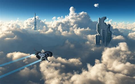 Futuristic 3D Skyscapes Wallpapers HD / Desktop and Mobile ...