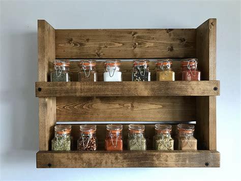 Rustic Spice Rack With 2 Shelves Bathroom 2 Shelf Organizer