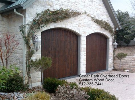 cedar park overhead doors real wood overhead garage doors rustic garage