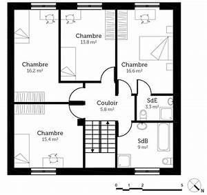 Plan Maison A Etage : plan maison cubique 140 m ooreka ~ Melissatoandfro.com Idées de Décoration