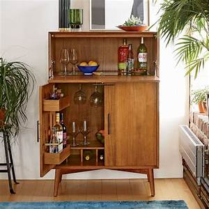 Mid-Century Bar Cabinet - Large west elm