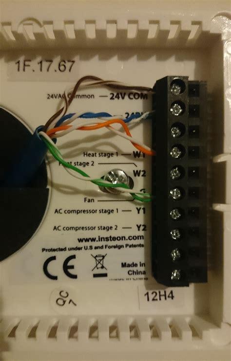 Insteon Thermostat Wiring Diagram insteon thermostat wiring diagram free wiring diagram