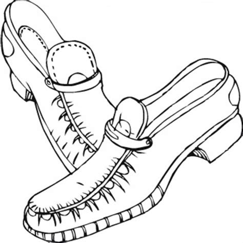 leather shoes coloring page coloring sky