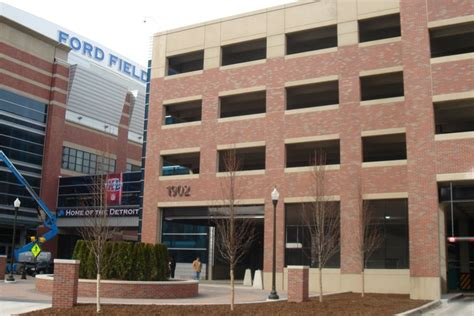 detroit lions ford field parking deck turner construction company