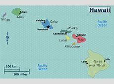 Detailed regions map of Hawaii Hawaii detailed regions