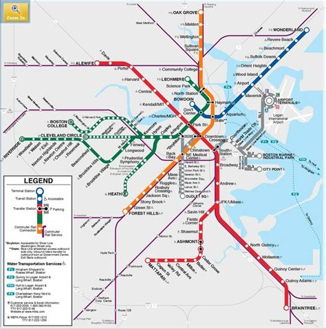metro boston quot t quot mbta map you can take the out of