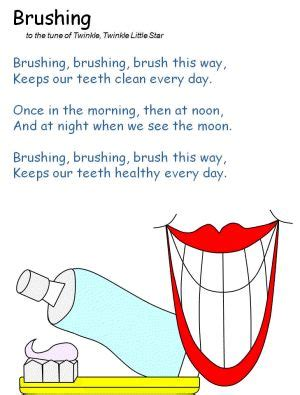 brushing poem daycare tooth health twinkle 302 | 8cd609a53576fb0ba56123b3f2844a27