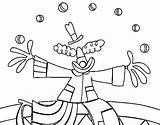 Juggler Coloring Clown Malabaristas Colorear Para Dibujos Coloringcrew Dibujo Malabarista Payaso Circus sketch template