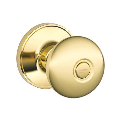 schlage door knob shop schlage j stratus bright brass turn lock