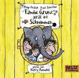 Familie Grunz gerät ins Schwimmen  Folge 2, gelesen von Harry Rowohlt, 3 CDs in der Multibox, 4