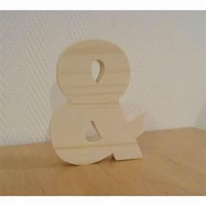 Lettre En Bois A Poser : lettre alphabet deco ~ Teatrodelosmanantiales.com Idées de Décoration