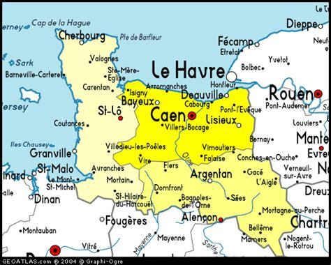 Carte Region Normandie by Basse Normandie Geography Region Map Map Of