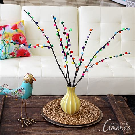 pom pom branches fun family crafts