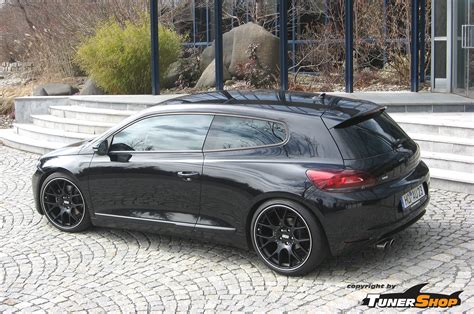 volkswagen scirocco r black vw scirocco with black bbs ch r wheels tunershop