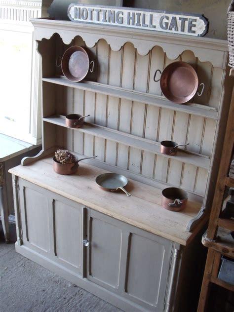 victorian pine painted farmhouse dresser sideboard  plate rack antique vintage finds