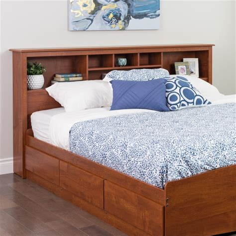 king size bookcase headboard features