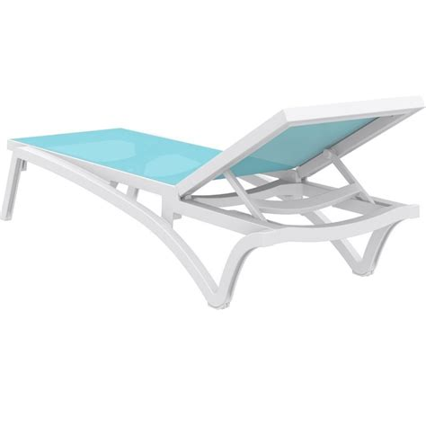 chaise turquoise compamia pacific chaise lounge with turquoise sling in