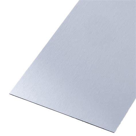 plaque inox brossé pour cuisine tôle lisse acier inoxydable brossé l 100 x l 60 cm x ep 0