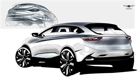 Luxury Suv Of Genesis Sketch On Behance  Car Sketch Car