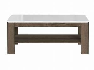 Conforama Table Basse : table basse rectangulaire urano coloris noyer et blanc chez conforama ~ Teatrodelosmanantiales.com Idées de Décoration