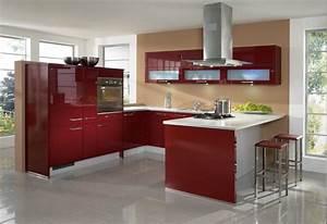 Küche In Rot : k che in rot k cheninsel designerk che rote k chen pinterest ~ Frokenaadalensverden.com Haus und Dekorationen