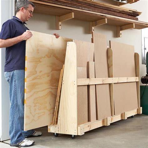 sheet goods rackcutoff station woodworking plan  wood magazine