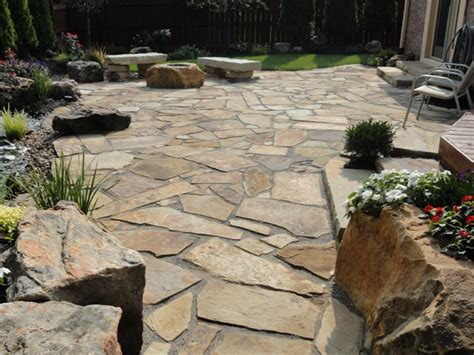 flagstone patio ideas the outdoor space design