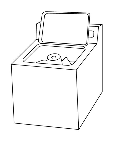 Wash Machine  Free Coloring Pages