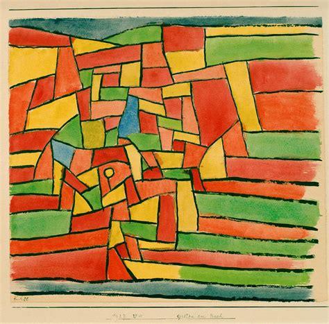Kunstdruck Garten Am Bach Von Paul Klee