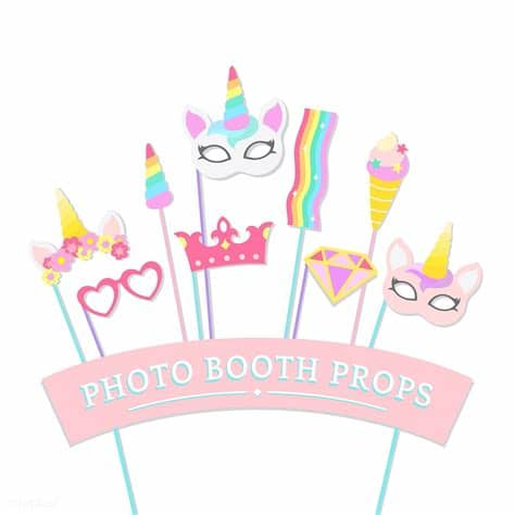 These can be used in website landing page, mobile app, graphic design projects, brochures, posters etc. Cute unicorn photo booth party props vector   free image ...