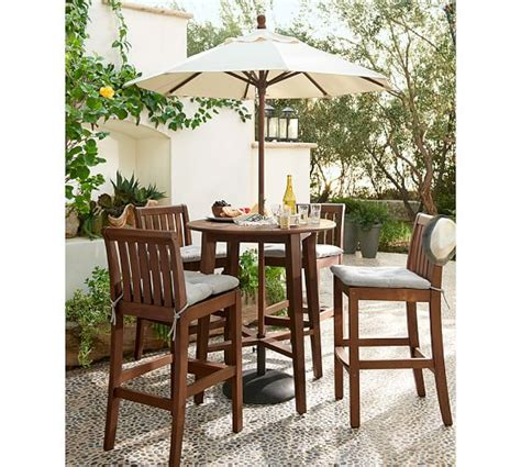tufted outdoor dining chair cushion solid pottery barn