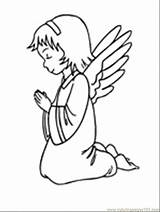 Angel Coloring Pages Printable Angels Praying Tattoo Cake Peoples Designs Knees Colorless Template Popular Tattooimages Biz sketch template