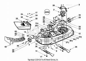 Troy Bilt 13ad609g063  2000  Parts Diagram For Deck