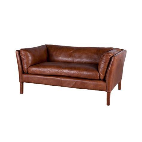 canapé flamant canapé bellamy en cuir vintage par flamant