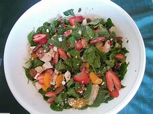 Strawberry Spinach Salad with Caramelized Pecans and ...