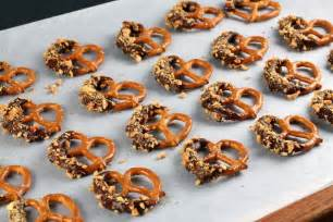 where to buy chocolate covered pretzel rods chocolate dipped almond pretzel cookies recipe dishmaps