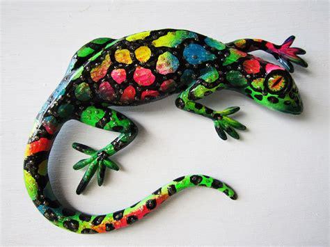 reptile art wall decor whimsical lizard sculpture