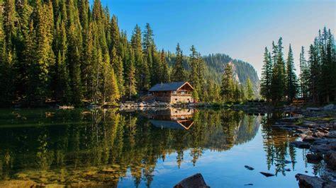 Cabin In A Lake Hd Wallpaper
