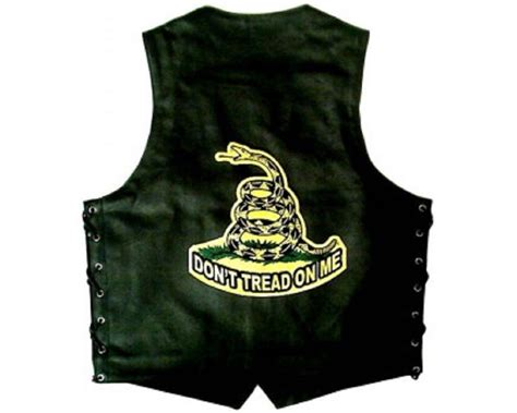 Large Back Patch Don't Tread On Me Snake Motorcycle Biker
