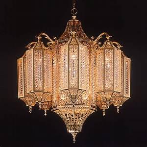 The fascinating oriental gold swarovski crystal chandelier