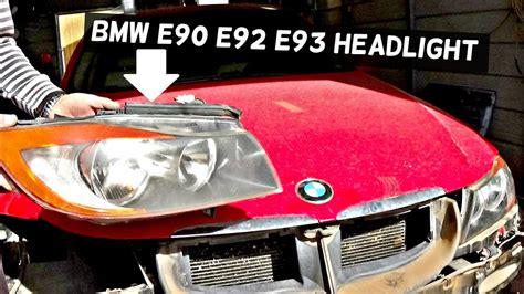 bmw e90 e92 e93 headlight removal replacement 325i 328i 330i 335i 320d 316i 318i 335d