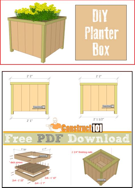 where can i find blueprints for my planter box plans pdf construct101