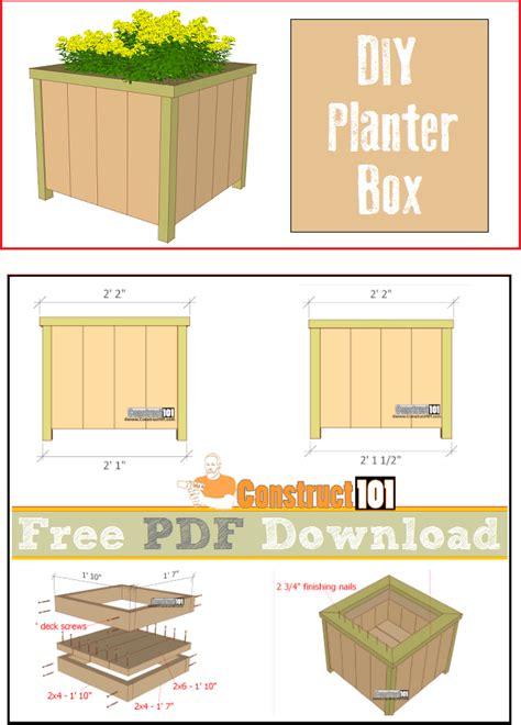 planter box plans   construct