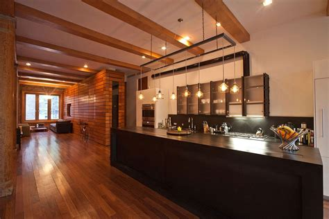 new york loft kitchen design kitchen lighting loft in noho new york city kitchens 7107