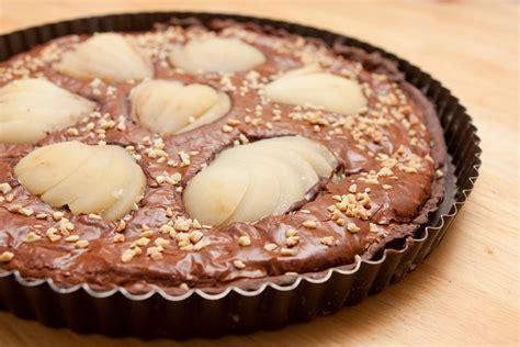 tarte poire chocolat pate sablee la tarte chocolat poires l effet chocolat