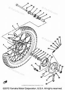 Yamaha Motorcycle 1980 Oem Parts Diagram For Front Wheel
