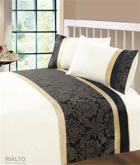 black gold colour modern stylish damask bedding quality