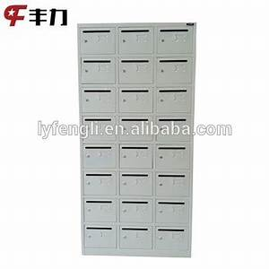 24 door residential mailbox apartment postbox metal With apartment door letters