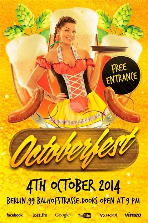 freepsdflyer octoberfest  flyer template