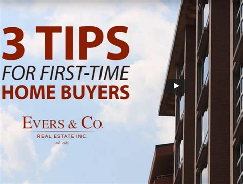 Three Tips For First-time Home Buyers